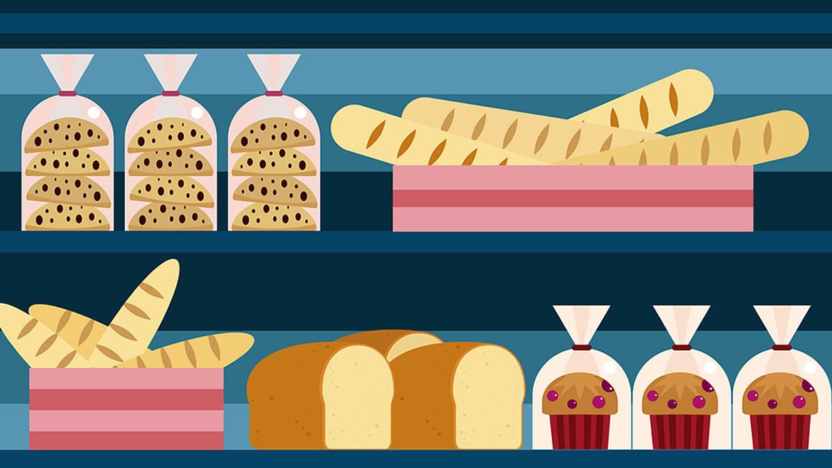 パン屋さんのショーケース