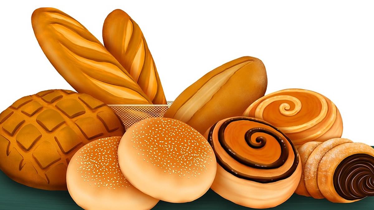 陳列されるパン