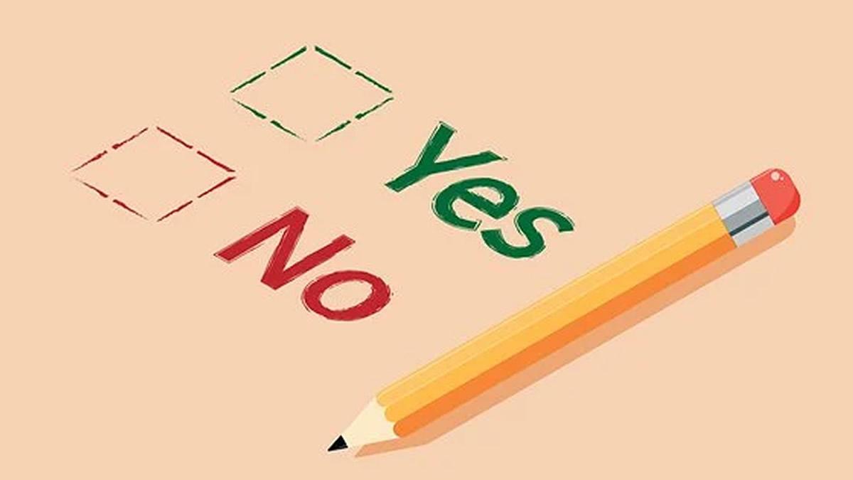 Yes・Noの選択肢